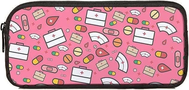 Nopersonality - Estuche para lápices de niños, diseño de enfermería, color nursing-1: Amazon.es: Oficina y papelería