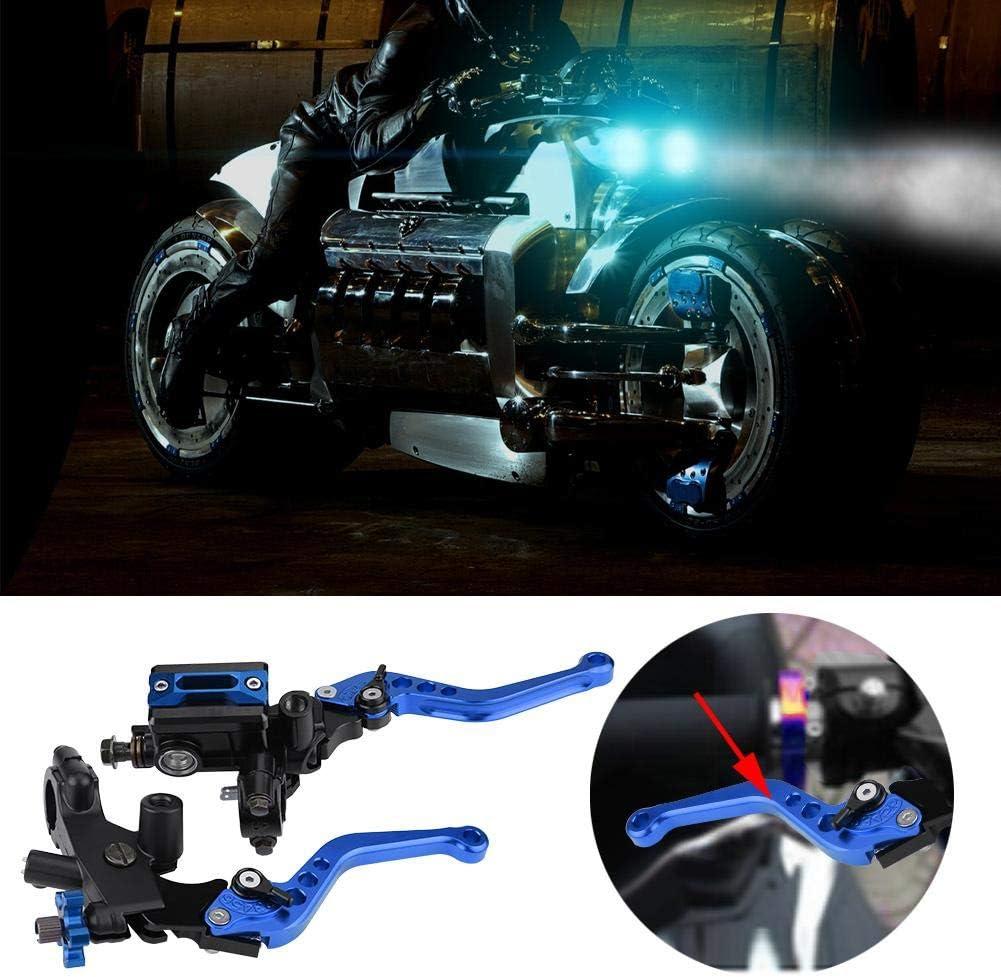 7//8 Zoll Universal-Reservoirhebel f/ür Hauptbremszylinder von Motorr/ädern und Kupplungshebel rot Keenso 1 Paar einstellbare Brems