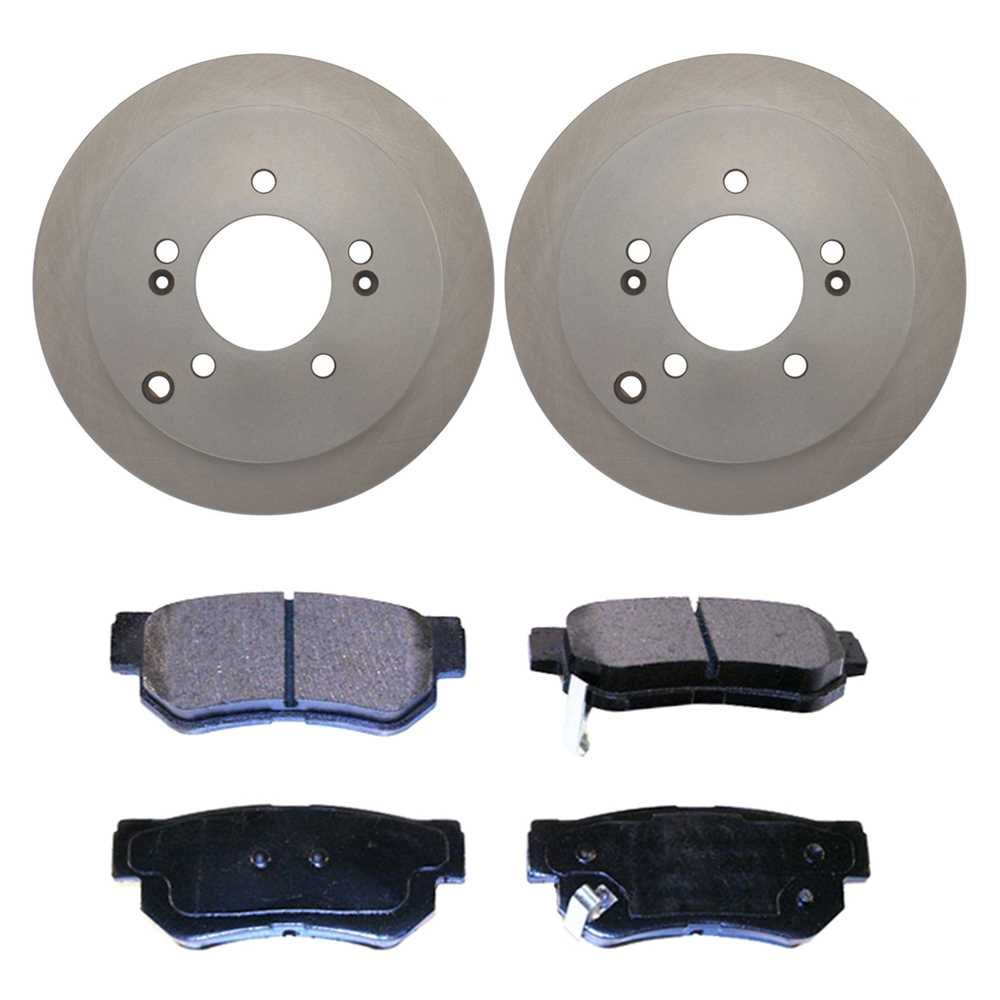 Prime Choice Auto Parts RSMK41338-41338-813-2-4 Set of 2 Premium Rotors /& 4 Semi Metallic Pads