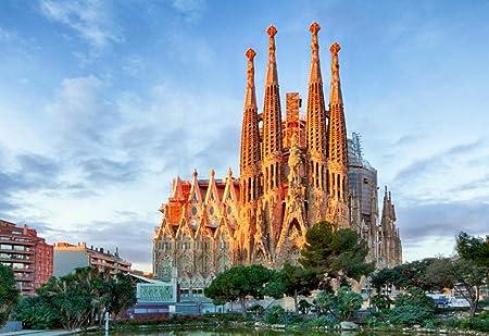 Rompecabezas Rompecabezas 1000 Piezas Puzzles El Cielo La Ciudad Templo España Barcelo Puzzle DIY Art: Amazon.es: Hogar