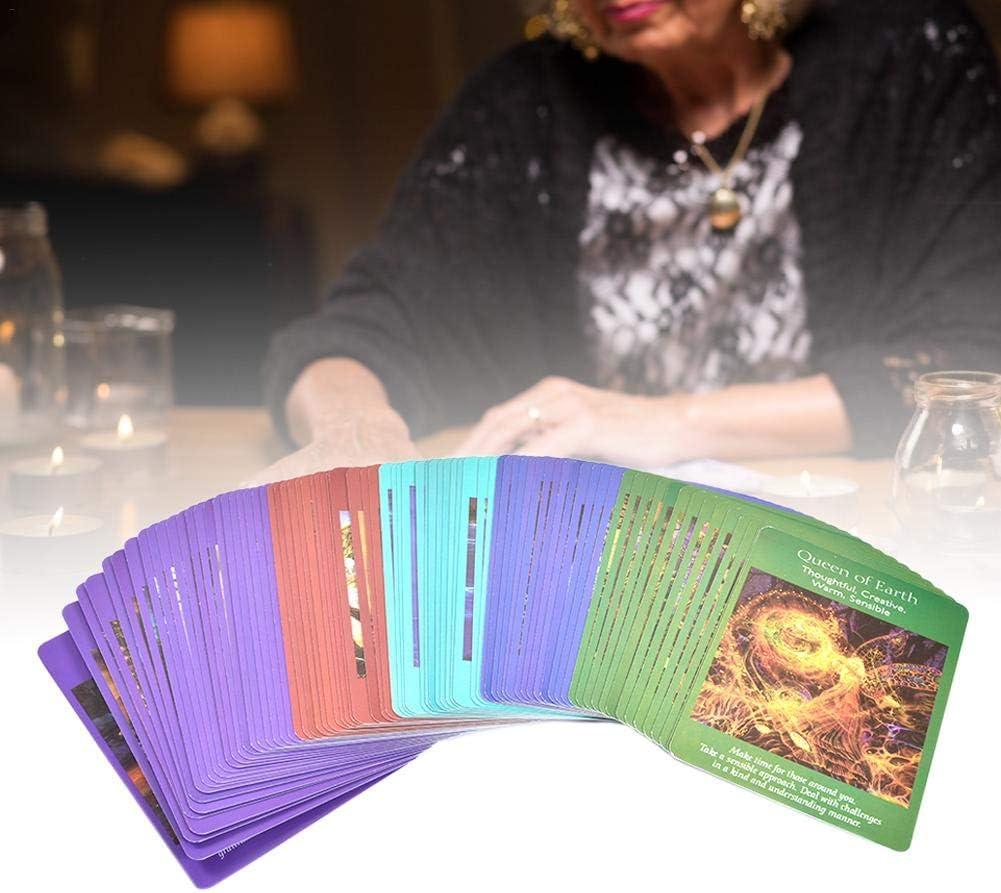 Motto.h Angel Tarot Cards: Una Baraja De 78 Cartas Y Cartas De Guía Tarjeta De Juego De Mesa, Rica En Simbolismo E Imágenes, Incluidos Ángeles, Arcángeles, Unicornios, Hadas Y Sirenas, Las up-to-Date: