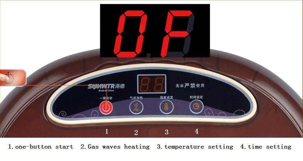 AMYMGLL Baño de pies Spa con el calentador de agua (dos grandes rodillos de masaje no automáticas, calefacción PTC): Amazon.es: Hogar