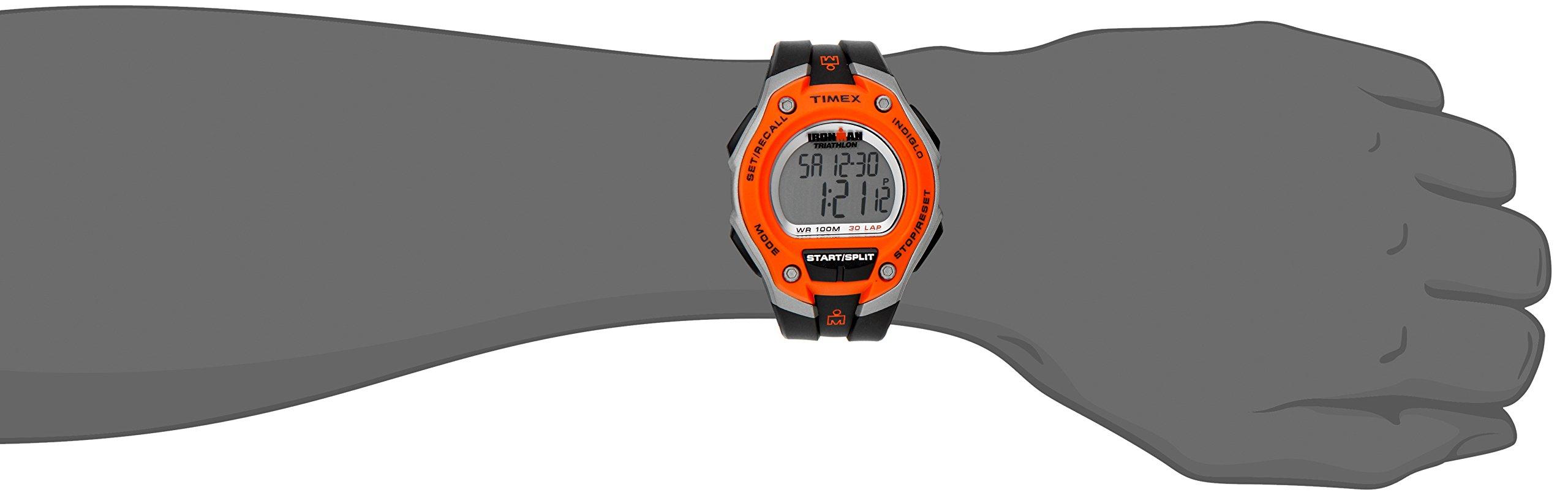 6ce6fbdacd62 Timex Men s T5K529 Ironman Classic 30 Oversized Black Orange Resin Strap  Watch - T5K529SU   Wrist Watches   Clothing