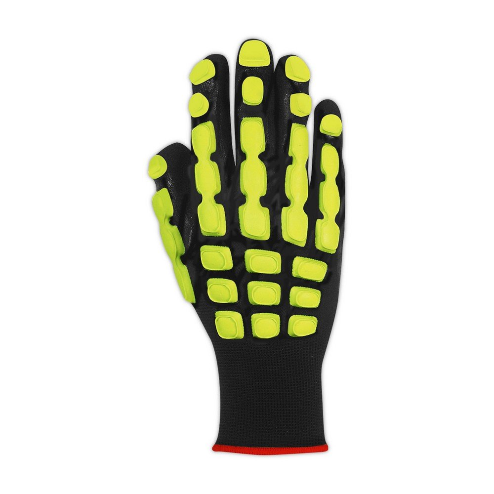 Magid Glove & Safety TRX100L T-REX TRX100 Multipurpose Impact Glove, Black, Large, Polyester (Pack of 12) by Magid Glove & Safety (Image #2)