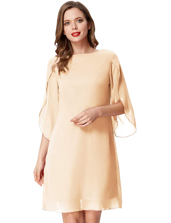 GRACE KARIN Women Loose Chiffon Dress Elegant Evening Dress for Cocktail Party