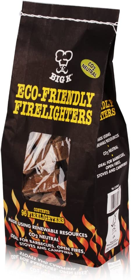 The Chemical Hut X6 Packs of Eco-Friendly Non-Toxic Firelighters 96 Pack FSC Approved Stoves BBQs Campfires Open Fires
