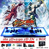 PinPle Arcade Game Console 1080P 3D & 2D Games 2350 2 in 1 Pandora's Box 3D 2 Players Arcade Machine with Arcade Joystick Support Expand Games for PC / Laptop / TV / PS4 (Arcade Machine)