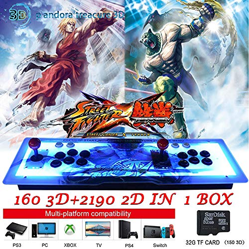 PinPle Arcade Game Console 1080P 3D & 2D Games 2350 2 in 1 Pandora's Box 3D 2 Players Arcade Machine with Arcade Joystick Support Expand Games for PC / Laptop / TV / PS4 (Arcade Machine) by PinPle (Image #6)