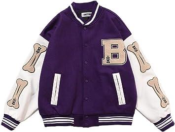 ANGELA -ヒップホップジャケット、毛皮のような骨の色のブロックストリートウェアのパッチワークパターン、メンズ野球コート、フライトボンバージャケット