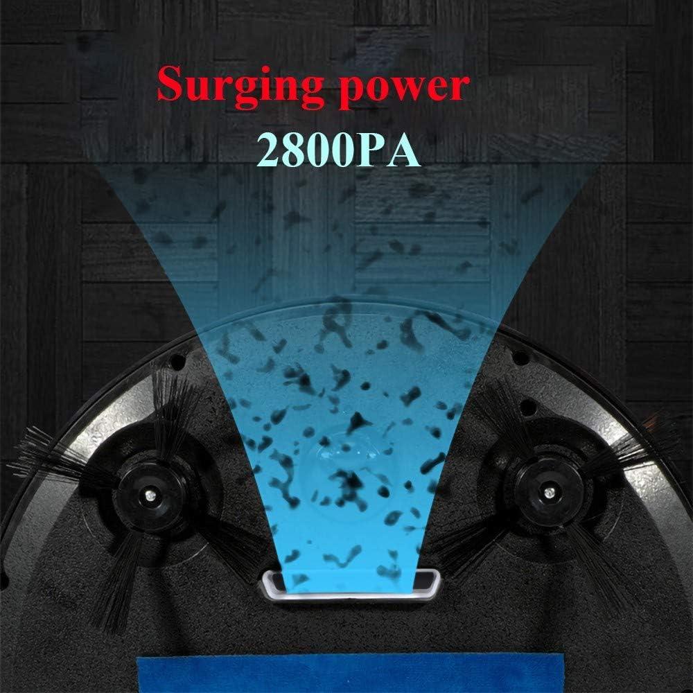 MRMRMNR Aspirateur Robot 3 en 1, Améliorer Aspirateur Autonome Maison Intelligente, Capteur Intelligent, Planification D\'itinéraire, Stérilisation UV, 2800PA A