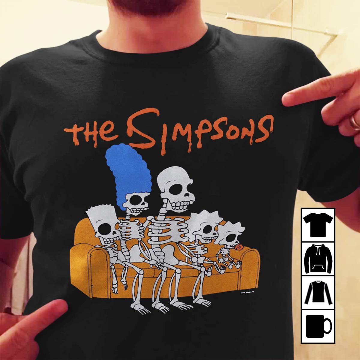 Simpsons Halloween Shirt.Simpsons Family Skeletons T Shirt Purple Mens Halloween Retro Tv