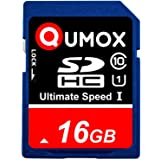 QUMOX 16GB SD HC 16 GB SDHC Class 10 UHS-I Secure Digital Memory Card HighSpeed Write Speed Write 15MB/s Read: 40MB/s