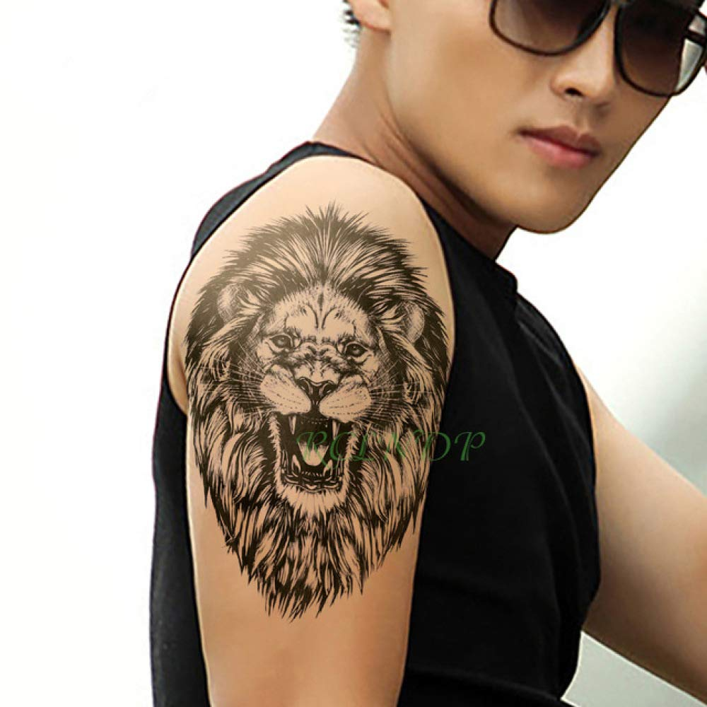 Handaxian 3pcs Impermeable Animales Tatuaje león Corona Etiqueta ...