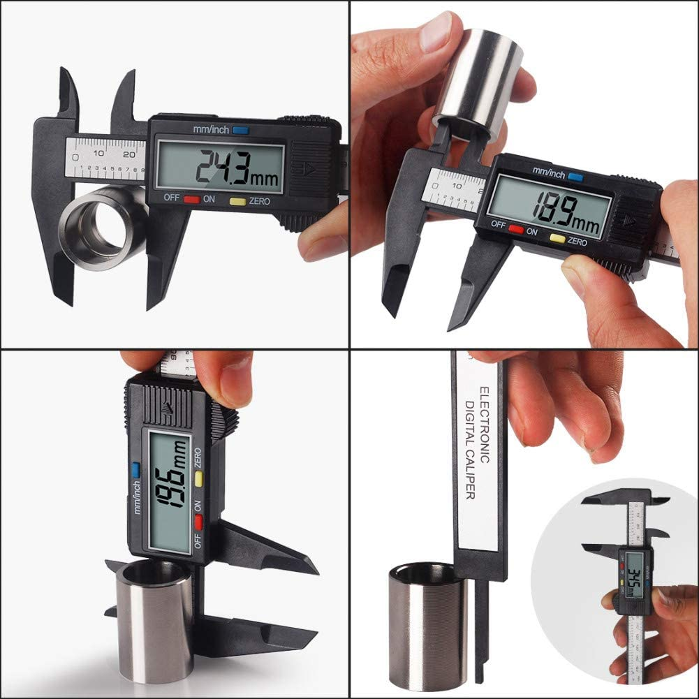 Peanutaod 6 Zoll Carbon Fiber Composite Elektronische Digital Messschieber Regel Durable Mikrometer Universal Messwerkzeug