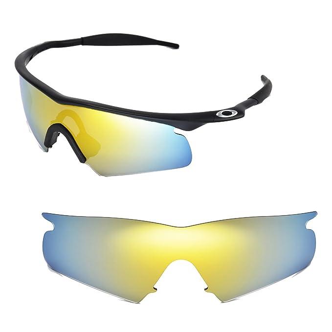 169fe96621d Walleva Replacement Lenses for Oakley M Frame Hybrid Sunglasses - Multiple  Options (24K Gold Mirror Coated - Polarized)  Amazon.co.uk  Clothing