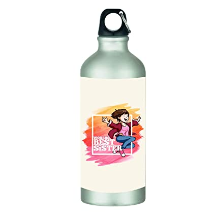 YaYa CafeTM Bhaidooj Birthday Gifts For Sister Sipper Water Bottle Best