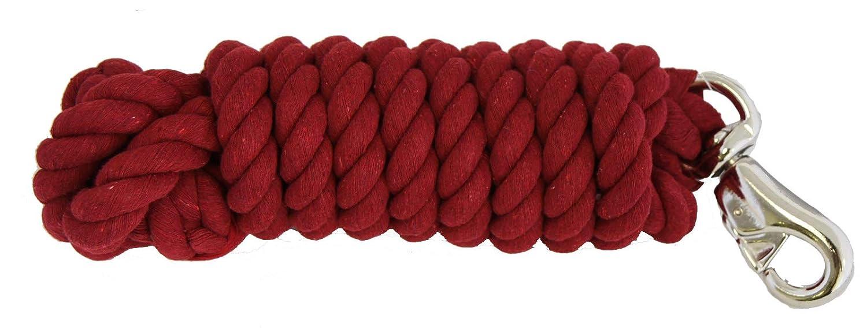 AJ Tack Wholesale Horse Lead Rope Heavy Duty Cotton 10 Feet by 3//4 Inch Bull Snap