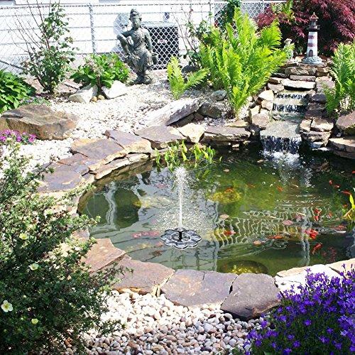 Qualife Smart Solar Fountain Pump for Bird Bath,1.6W Solar Powered Bird Bath Fountain,Birdbath Fountains Solar Power, Solar Water Fountain for Garden Birdbath Pond by Qualife (Image #3)