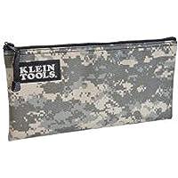 Klein Tools Bolsa com zíper 5139C, a bolsa camuflada mede 31 x 18 cm, tecido durável com design de camuflagem