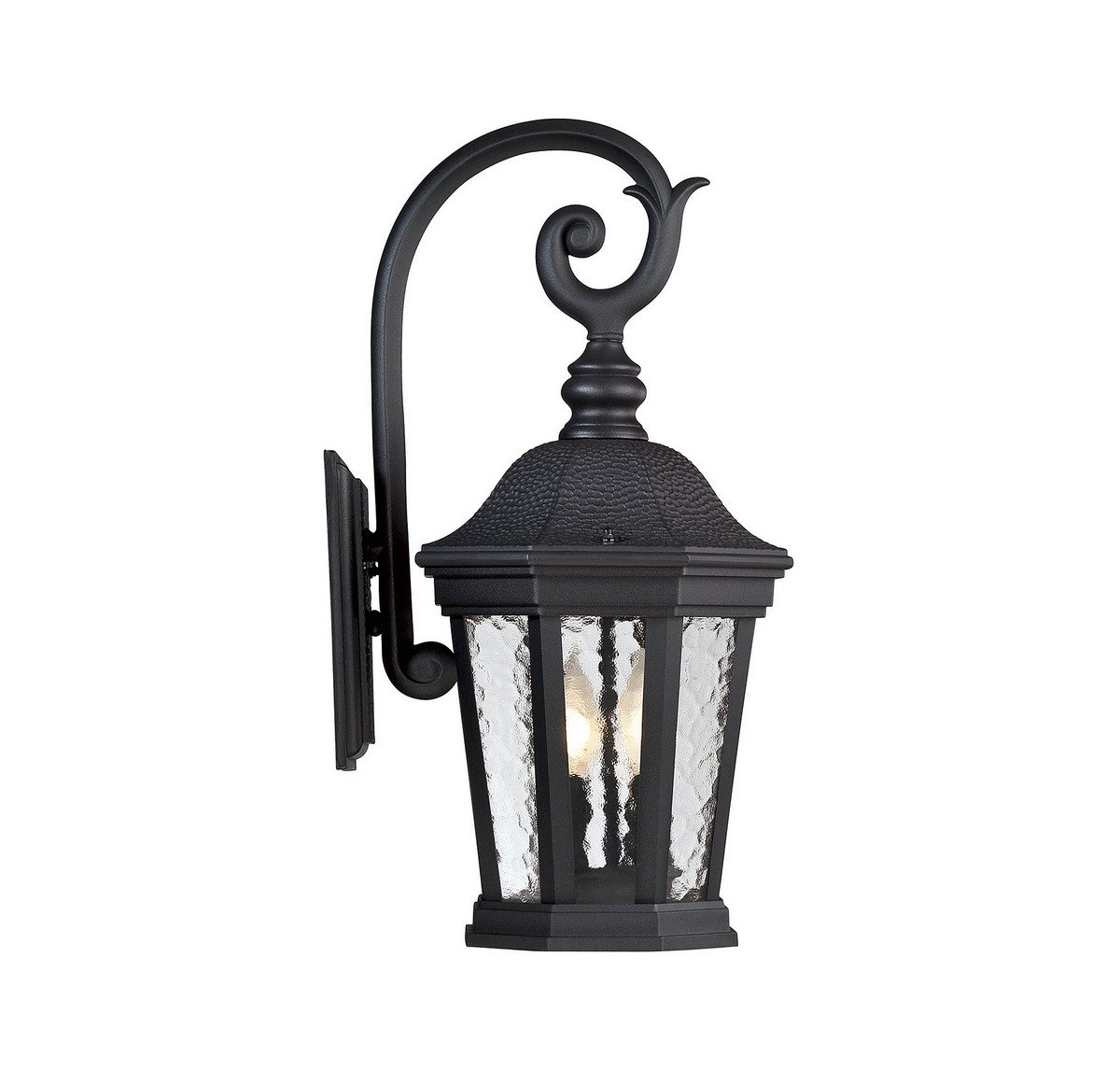 Savoy House 5-5081-BK Hampden 21'' 2-Light Outdoor Wall Lantern in Black