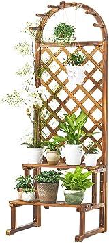 YNHKKT Soporte de Plantas de Flores de Madera con Enrejado, Soporte de pérgola de jardín, Estante de Plantas Resistente para Enredaderas, Flores trepadoras, jardín, Exterior 60 * 50 * 175cm: Amazon.es: Electrónica