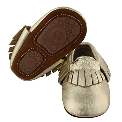 Muy Guay Baby Moccasins Genuine Leather Crib Shoes Unisex Babies Toddler Tassel First Walking Shoes with