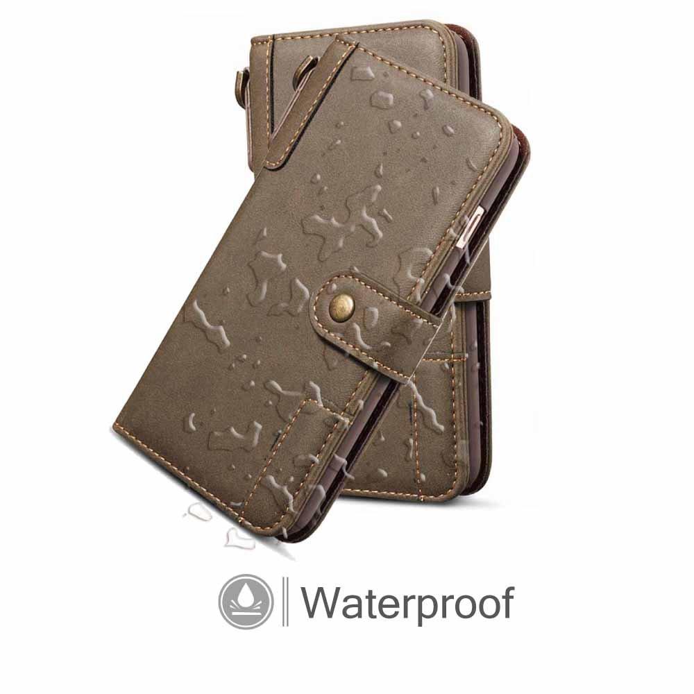 Custodia Dfly per iPhone X 2017 Release Cover per iPhone X // iPhone 10 Blu Custodia a portafoglio con retro in vera pelle con Funzione Kickstand Slot per schede Portachiavi Chiusura magnetica