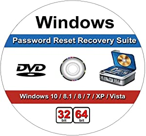 Windows Password Recovery Reset CD. Works on All Windows Versions,10, 8.1, 7, XP and Vista in 32/64 Bit. No Internet Connection Required. Reset Lost Password