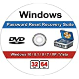 Windows Password Recovery Reset CD. Works on All Windows Versions,10, 8.1, 7, XP and Vista in 32/64 Bit. No Internet…