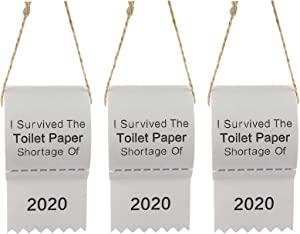 SUMDGE Life Christmas Ornament 2020, Toilet Paper Christmas Tree Ornament, Toilet Paper Shortage 2020 Personalized Ornament - I Survived The Toilet Paper Shortage of 2020