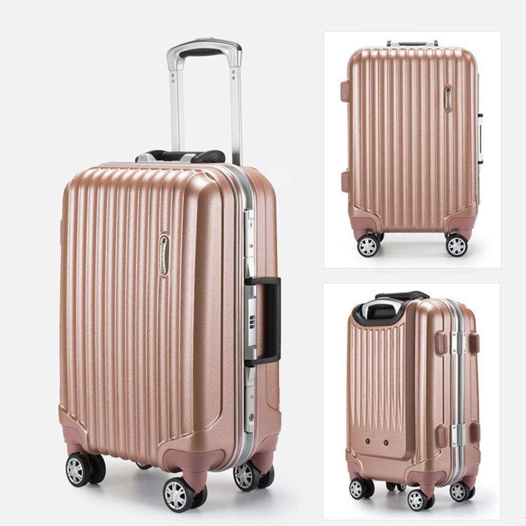 Maleta de Viaje Suitcase Samsonite Spinner Suitcase, 55.5 Cm, (Violeta) Maleta (Color : Gold, Size : 20 inches55.5x25x35cm)