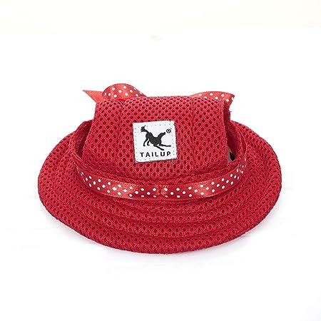 Festnight Sombrero Redondo de ala para Perro Sombrero de Mascota ...