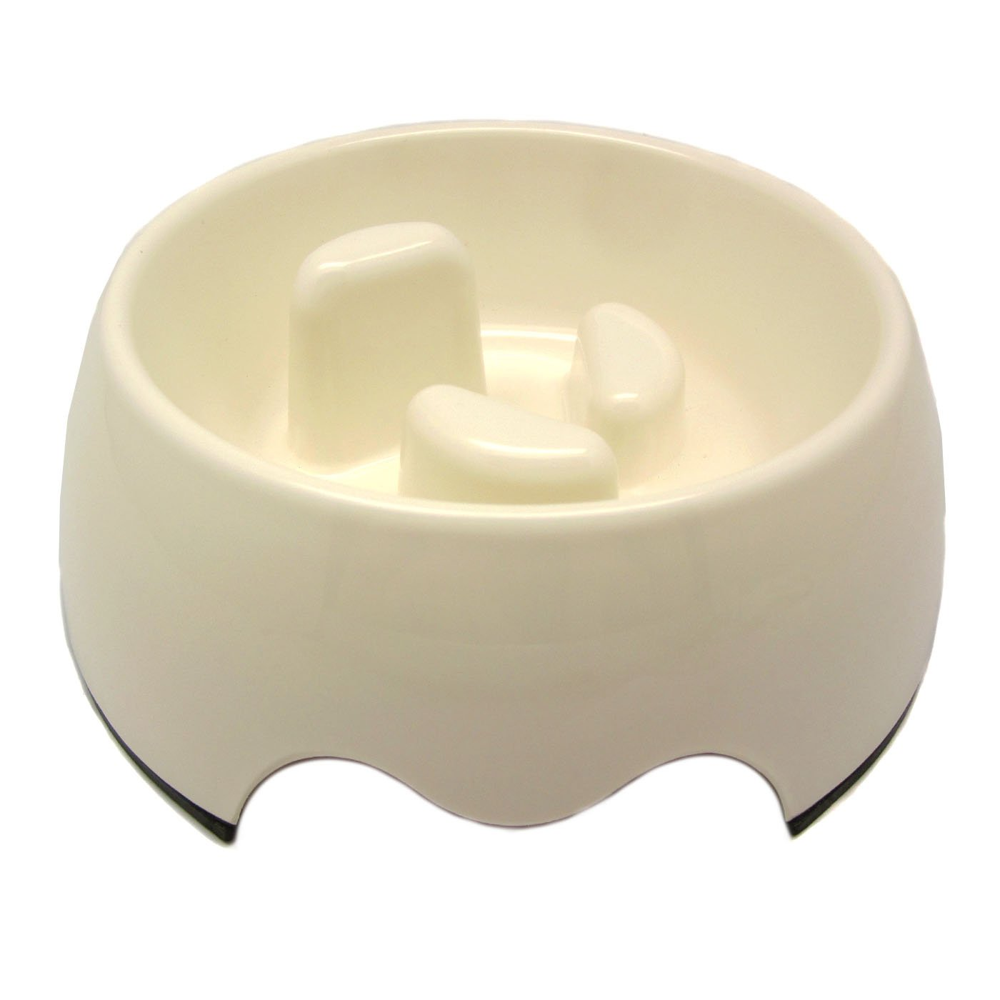 Alfie Pet by Petoga Couture - Vea 2.0 Slow-Eating Anti-Gulping Pet Food Bowl (for Dogs & Cats) - Color: White, Size: Small
