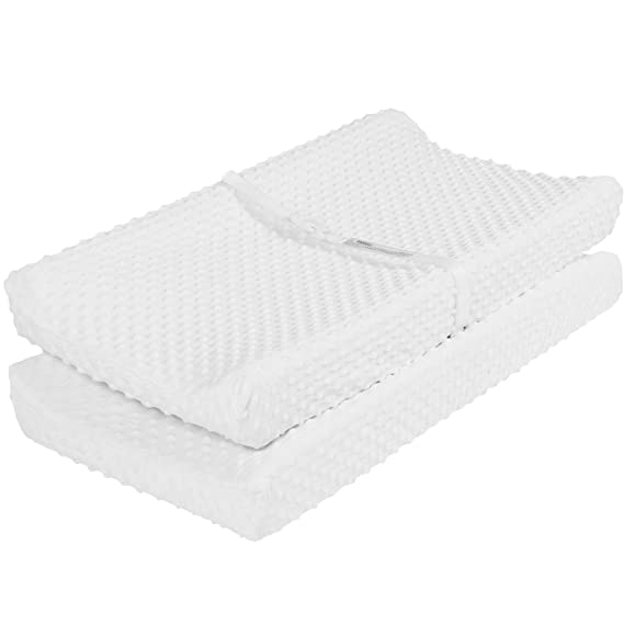 Tillyou Minky Dot Changing Pad Covers Warm Luxury Cradle Sheet Unisex Plush Baby Changing Table Sheets Fit 32 34 X16 Pad Ultra Soft Cozy 2 Pack Cream Baby Amazon Com