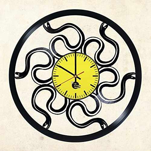 Snakes Wild Exotic Vinyl Record Clock – Unique and Stylish Gift Idea – Perfect present for birthday, anniversary, wedding, Valentine's Day – Modern Décor for any (Exotic Vinyl)