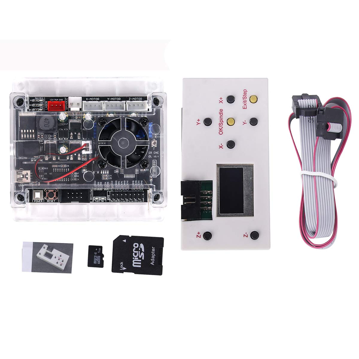 Upgraded 3 Axis Control Board GRBL 1.1f USB Port Remote Hand Control for CNC Engraving Machine Control Board for CNC Router Milling Mini DIY Engraving Machine CNC 1610/3018 PRO+Offline Control