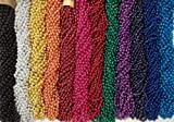 500 Promo Items Mardi Gras Gra Beads Necklaces Party Favors Case Lot 33'' 7mm