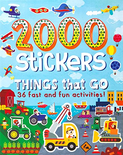 2000 Stickers Things That Go