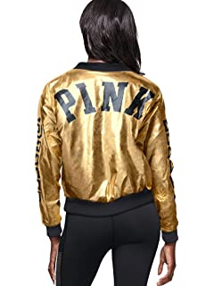 21e88aa19ca Victoria s Secret Pink New! Metallic Bomber Jacket NWT Color Metallic Large