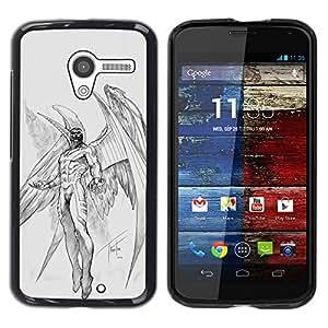 Cubierta protectora del caso de Shell Plástico || Motorola Moto X 1 1st GEN I XT1058 XT1053 XT1052 XT1056 XT1060 XT1055 || Wings Angel Sketch @XPTECH
