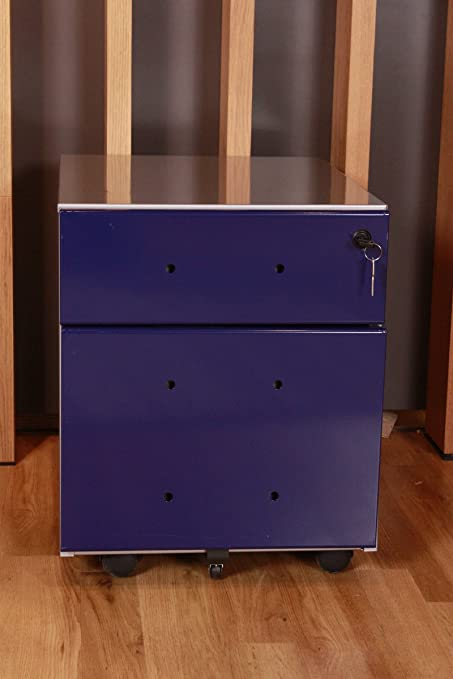 Kasper Wohndesign Mix Filing Cabinets Drawers Element In Steel Blue