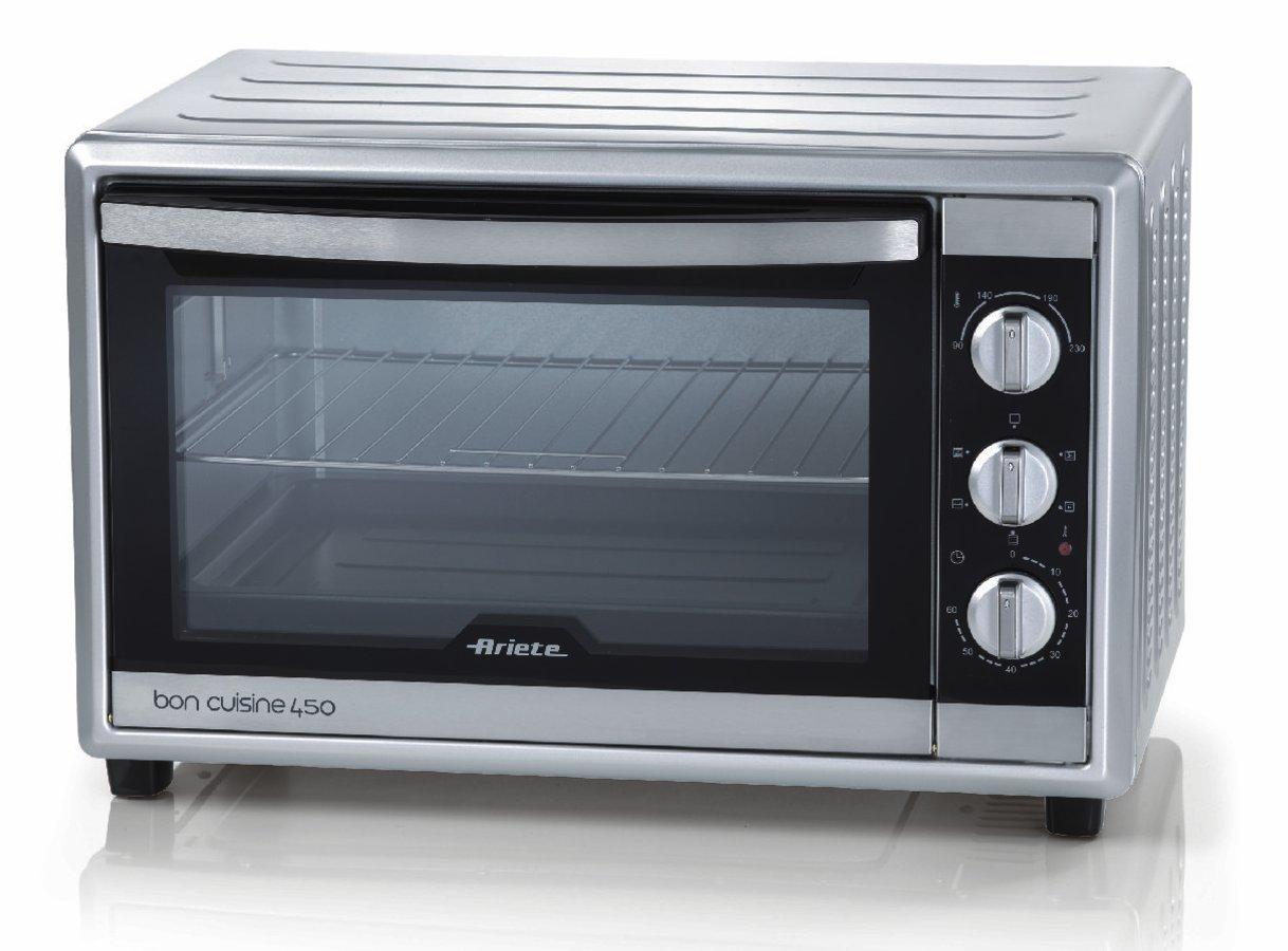 Ariete UK 986 Bon Cuisine 450 Mini Electric Oven, Silver