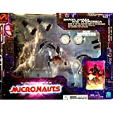 MICRONAUTS Collectible Baron Karza and Andromeda Action Figures (Clear) - Retro Series 1
