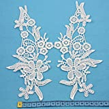 Beads4Crafts OFF WHITE/ IVORY GUIPURE LACE SEW ON EMBROIDERY EMBELLISHMENTS SEWING TRIMFREE UK POSTAGE (240 x 120mm HL2061) by Beads4crafts