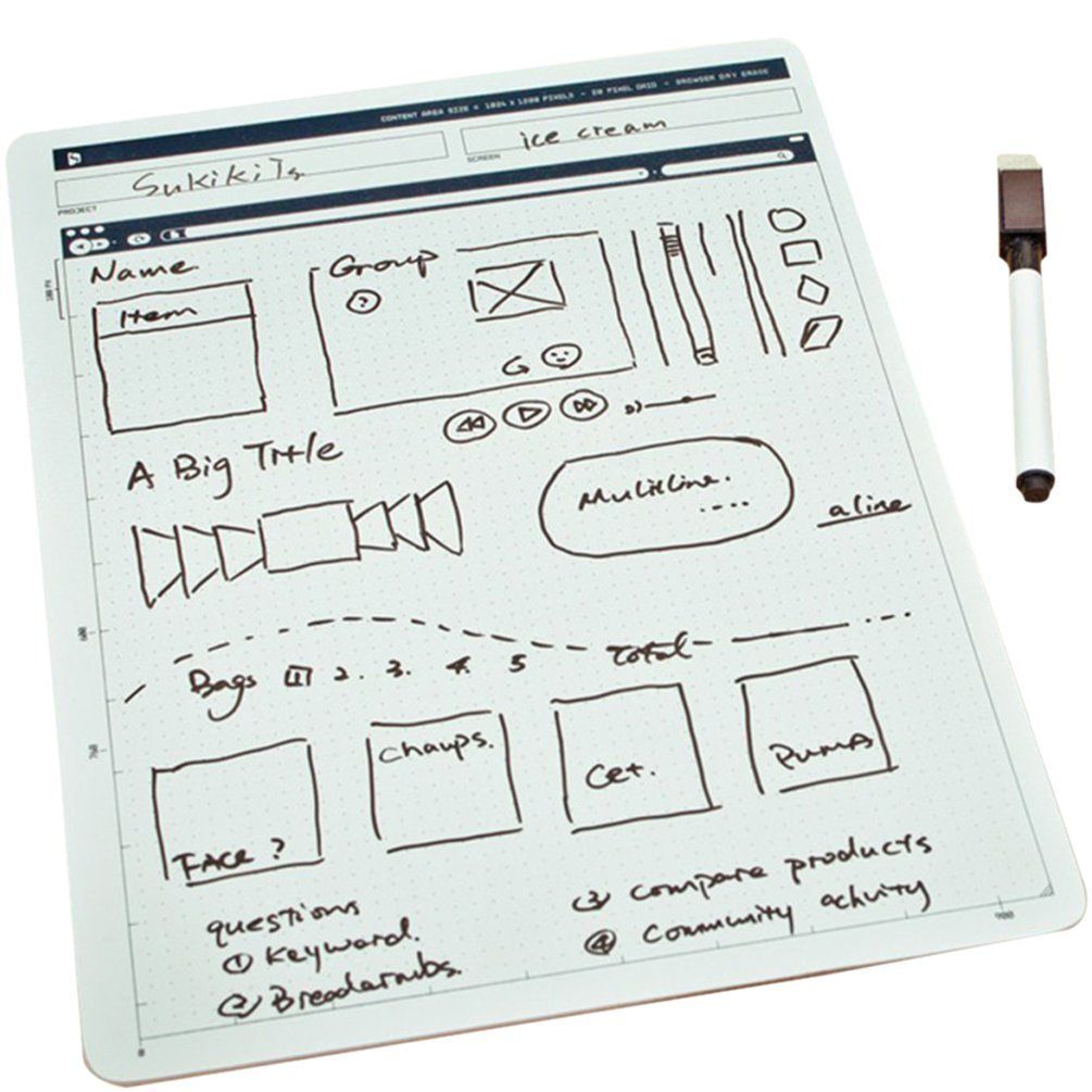 ZZ Lighting Creative Portable Whiteboard Double-Sided Whiteboard Dry Erase Board Office Drawing Painting Board Small Graffiti Board with Marker by ZZ Lighting (Image #1)