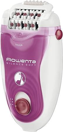 Rowenta Silence Soft EP5660 - Depiladora 2 velocidades, sistema antidolor de 24 pinzas, luz frontal Led, cabezal exfoliante, de afeitado, para axilas y para recorte para la zona del bikini