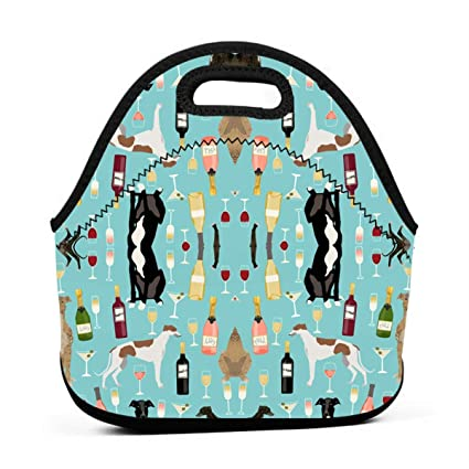 fcd27b016dac Amazon.com - ONUPMIN Ideal Gifts - Insulated Lunch Bag Greyhounds ...