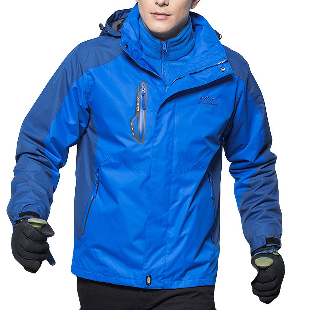 YKARITIANNA Men's Pro Anorak Autumn Winter Coat Two Piece Three in One Outdoor Breathable Warm Clothes Windproof Jackets