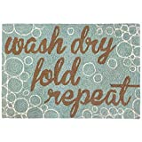 Liora Manne FT023A54004 Whimsy Rub A Dub Rug, Indoor/Outdoor, Scatter Size, Aqua Review