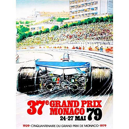 Wee Blue Coo Vintage Advert Transport Grand Prix Monaco Unframed Wall Art Print Poster Home Decor Premium